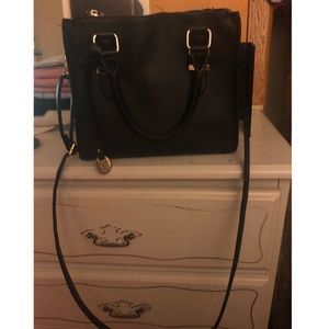 Call it Spring Black Faux Leather Bag